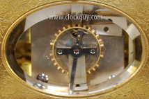"BDW-1252  Giant Gorge-Cased Grand Sonnerie  Carriage Clock with Alarm & Calendar  Escapement Signed ""Drocourt"" ~ Antique Clocks Guy"