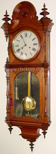 E.N. Welch Regulator No. 5 in Walnut ~ Antique Clocks Guy