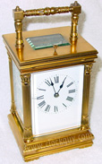 Architectural-Style Carriage Clock with Bamboo Influences ~ Antique Clocks Guy