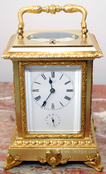 Oversized French Carriage Clock with Repeater/Alarm c.1870 ~ Antique Clocks Guy
