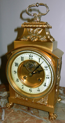 French Exposed Balancewheel Shelf Clock with Silver Mounts, c.1880 ~ Antique Clocks Guy