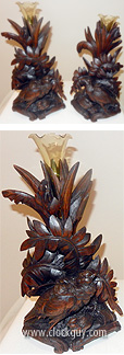 Pair of Black Forest Side Bud Vases ~ Antique Clocks Guy