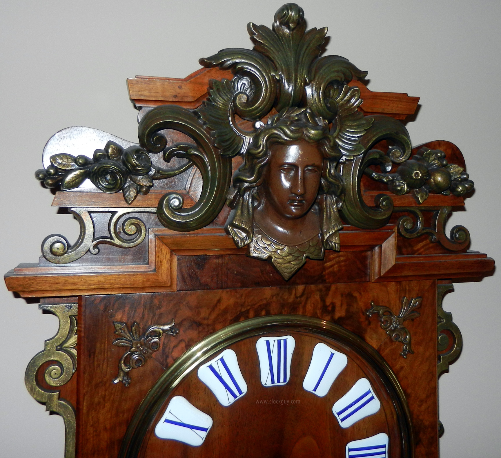 Antique clocks guy we bring antique clocks collectors and buyers ornate french wall clock with gilded iron mounts antitque clocks guy amipublicfo Image collections