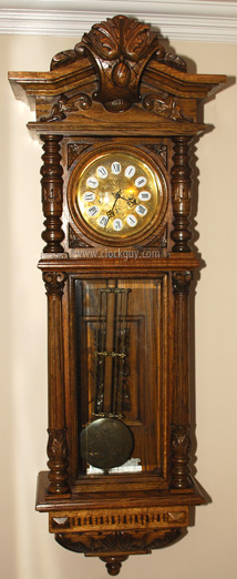 "Spectacular Gazo ""Carmel"" Model, c.1980 in Solid Oak with Ave Maria Chimes"