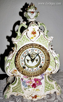 "Ansonia Royal Bonn ""La Loire"" - Antique Clocks Guy"