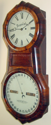 Seth Thomas Office Calendar No. 1 in Rosewood ~ Antique Clocks Guy