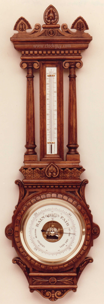"Gazo ""Cambria Pines"" Barometer ~ Antique Clocks Guy"