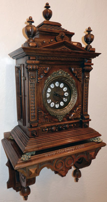 Gazo Mission Bay (later model) on shelf ~ Antique Clocks Guy