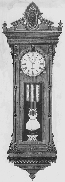 "Gazo ""X-Series"" Prototype Drawing - Never Built - Copy of E. Howard Regualator No. 67 - Antique Clocks Guy"