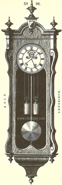 View the original Lenzkirch catalogue page ~ Antique Clocks Guy