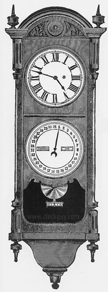 Seth Thomas Office Calendar No. 10 (Later Version) Original Catalogue Drawing ~ Antique Clocks Guy