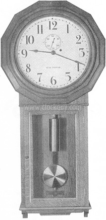 Seth Thomas Ball Watch Regulator No. 3 in Oak, c.1928, Original Catalogue Plate ~ Antique Clocks Guy