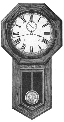 "Seth Thomas ""World"" in Rosewood - Original Catalogue Drawing - Antique Clocks Guy"