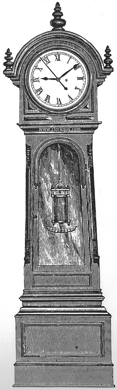 grandfather clock drawing. original catalogue drawing lowerend mvt config grandfather clock