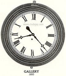"Waterbury 30-Day, 24""-Dial Gallery Clock Original Catalogue Drawing ~ Antique Clocks Guy"